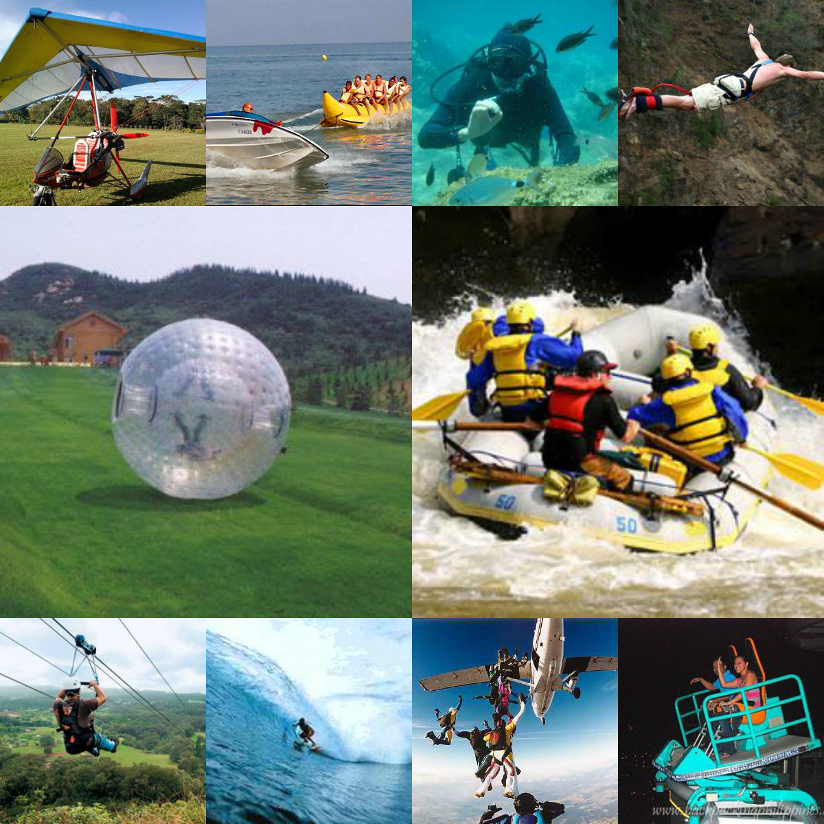 Adventure sports collage
